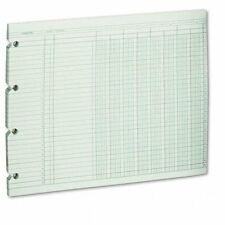 """Wilson Jones 8-column Numbered Ledger Paper - 9.25"""" X 11.88"""" Sheet Size - Green"""
