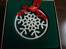 LENOX - Snow Blossom Snowflake ORNAMENT - Fine China & GOLD