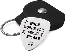 Best Guitar Pick Gifts - Stainless Steel Guitar Pick with Guitar Pick Holder Cas