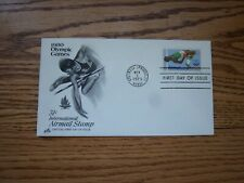 Sc. C97 1980 Olympic Games First Day Cover Artcraft FDC Unaddressed Airmail  MIK