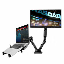 "Dual LCD Arm Desk Mount for 10"""" - 27"" monitor and 10"" - 15.6"" Laptop Notebook"