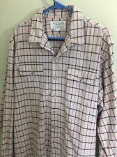 Polo Ralph Lauren Authentic Dungarees Cotton Size XL Button Down Pink Shirt
