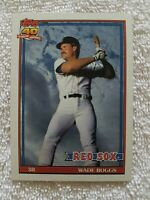 FREE SHIPPING-MINT-1991 Topps #450 Wade Boggs RED SOX-40 YEARS OF BASEBALL