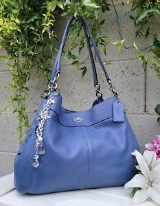 Coach 28997 leather lexy shoulder hobo purse handbag carryall bag dk periwinkle
