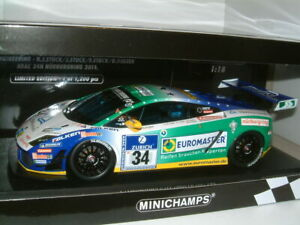 1/18 LAMBORGHINI GALLARDO LP600+ GT3 2011 , #34.1200 LTD ED MINICHAMPS