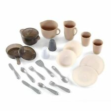 22pcs Mixed Pretend Play Cooking Dinning Pot Pan Dish Play Preschool Toy Set New