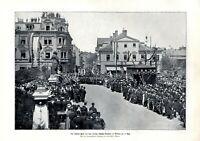 Schillerfeier in Weimar XL Fotoabbildung 1905 Goethe Schiller Denkmal Louis Held