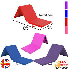 Tri Folding Exercise Thick Mat Gymnastic Training Workout Non Slip Yoga Gym 6ft