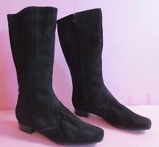 Stiefel wildleder schwarz, gefüttert ~80er Vintage Gr.36 Nr.09