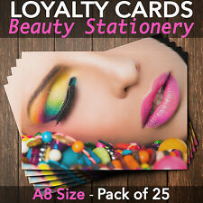 Loyalty Cards - Pack of 25 - massage therapists/beauty salons/spa, A8 mini