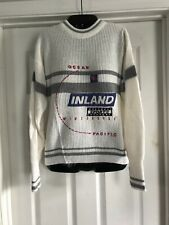 Vintage Ocean Pacific Sweater Op Winter Surf Inland Sports White Size Small