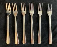 Crestware 18/0 Stainless Seafood/Cocktail/Pickle Forks LOT of 6 NICE PREOWNED