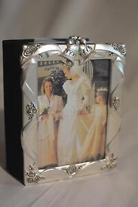 Vintage Godinger Silver Plated Satin Finish Wedding Album 4 X 6**New** Beautiful