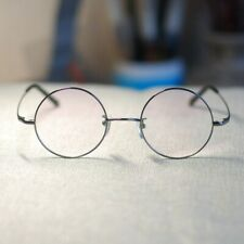 Men's Round Gray titanium eyeglasses Steve Jobs glasses  RX circle lens eyewear