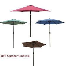 Outdoor 10FT Patio Umbrella Crank Tilt Market Waterproof Beach Yard Sunshade