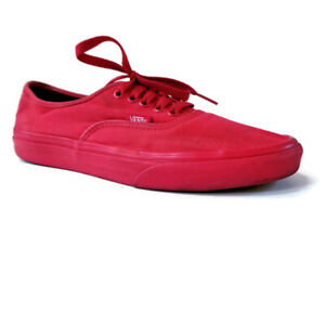 Vans Off the Wall Unisex Mens 8 Womens 9.5 Red Low Lace Up Skate Sneakers Shoes