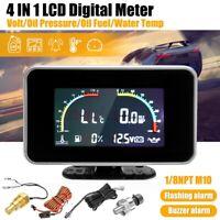 4in1 LCD Alarm Gauge Voltmeter Öldruckanzeige Kraftstoff/Wassertemperatur  II