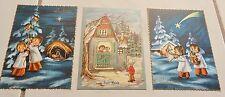 3 vintage ITALIAN CHRISTMAS POSTCARDS Buon Natale Italy sweet children