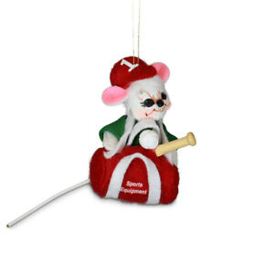 Annalee Dolls 2021 Christmas 3in Sporty Mouse Plush Ornament New with Box