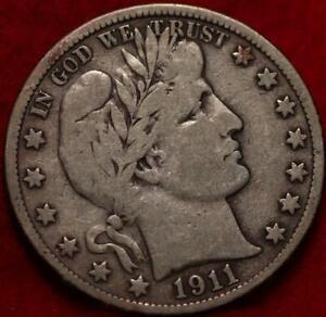 1911-S San Francisco Mint Silver Barber Half Dollar