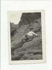 91124 ANTICA FOTO FOTOGRAFIA  alpinista scalatore alpinismo