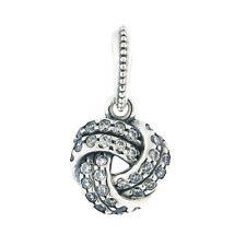 Authentic PANDORA Sparkling Love Knot Pendant, Clear CZ 390385CZ
