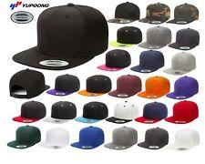 YUPOONG Classic SNAPBACK Baseball Cap FLAT BILL Adjustable Hat New!