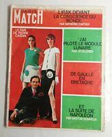 N79 Magazine Paris-Match N°1031 8 fev 1969 Pierre Cardin, de Gaulle en Bretagne