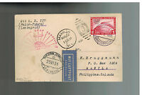 1931 Germany Graf Zeppelin postcard Cover Polar Flight LZ 127 # C40 Philippines