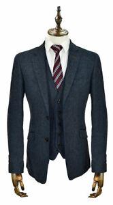 Mens Cavani Tweed Wool 3 Piece Suit Blazer Waistcoat Trousers Sold Separately
