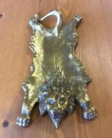 Antique Brass Lion Skin Rug - Trinket Dish or Pin Tray (Victorian)