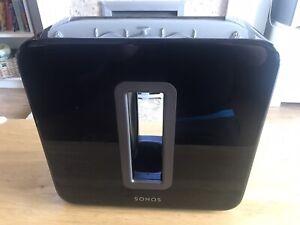 Sonos Sub Subwoofer Wireless Speaker Gloss Black