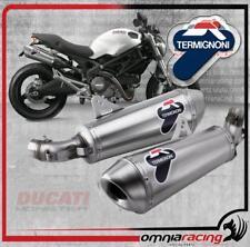 Termignoni D101 Terminali Scarico Omologati 80 Titanio Ducati Monster 796 10>13