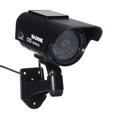 IR Bullet Solar Power Fake Dummy Camera LED Flashing Home Security Surveillance