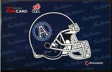 2012 Toronto Argonauts (FD29308) Tim Hortons gift card (no cash value)