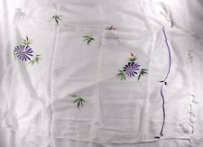 """Hibiscus Collection Ladies Rayon Shawl 20"""" X 64"""" White w/ multi-color Floral"""