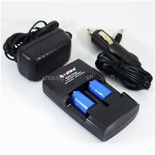 World Charger+2 x 3.7V Lithium Li-ion 14250 (1/2AA) CR14250 Rechargeable Battery