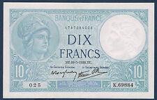 FRANCE - 10 FRANCS MINERVE Fayette n° 7.3 du 19=5=1939.XU en SPL  K.69884 025