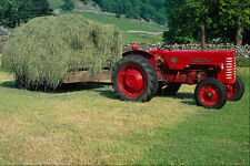 667089 Tractor And Hay Trailer B250 International A4 Photo Print