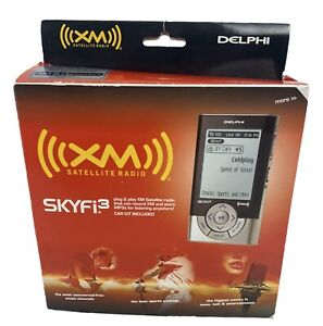 NEW Delphi SKYFi3 Sirius/XM Portable Satellite Radio w/Complete Car Kit SA10224
