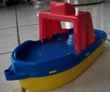 Boot, Wasserspaß, hochwertiger Kunststoff, für Kinder ab 12 Mon., blau/rot/gelb