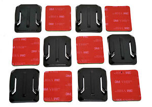 6x Curved Base 3M Adhesive Pad Helmet Mount Kit Compatible with GoPro 4 3+ 3 2 1