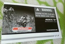 Transformers ROTF NEST BRAWN INSTRUCTION BOOKLET ONLY