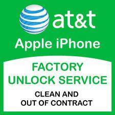 APPLE IPHONE 6S+ 6S 6+ 6 5S 5SE 5C 5 AT&T ATT PREMIUM FACTORY UNLOCK SERVICE
