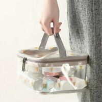 Make Up Bag Clear Travel Portable Cosmetic Organizer Large Pouch Storage Case US