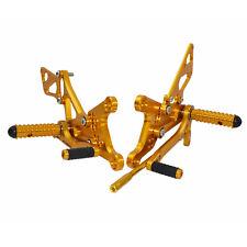Rearset Rear Set Foot Rest Peg Gold 2005 2006 2007 2008 KAWASAKI NINJA ZX 6R 636