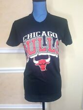Vintage 1990 Chicago Bulls NBA Basketball Logo Black T-Shirt Size M