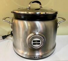 KitchenAid KMC4241CA 4 Quart Multi Cooker Stainless Slow Cooker