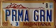 Vanity PERMA GREEN license plate Permanent Color Paint Pharma Classic Muscle car