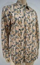 Rag & Bone & Multi-Color Beige 100% Algodón Floral Print Blusa Camisa Top Talla: M